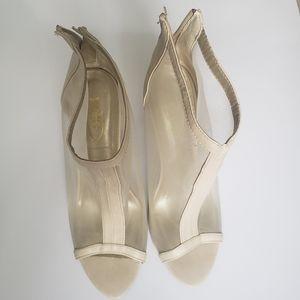 Cream High Heel Shoes